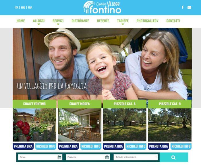 Il Fontino: sito web campeggio