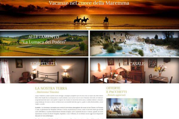 sito web agriturismo Saturnia